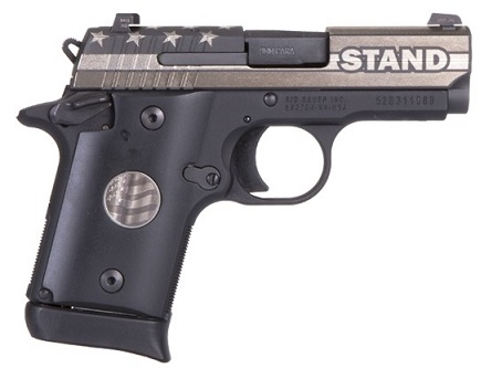 Sig Sauer P938 Stand: A Swipe at Anthem Kneelers?